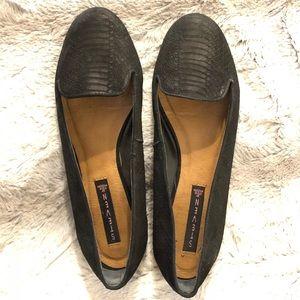 Steven Keaton Nubuck Leather Flats, Black